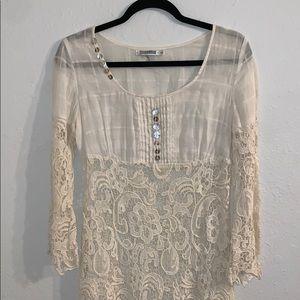 Monoreno - Cream Lace Dress - Size S